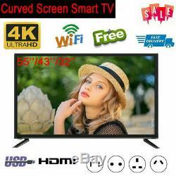 32/43/55 inch Smart TV 4K Curved Ultra HD LED 3000R HDMI VGA USB RF Interface