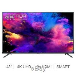 43 Inch Smart TV 4K Ultra HD Freeview Slim Television Internet Netflix HDMI Wifi