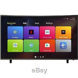 ElectriQ 49 Inch Curved Android Smart 4K Ultra HD LED TV WiFi Freeview HD