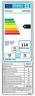 Hisense Roku TV 50 Inch R50B7120UK 4K Ultra HD HDR Freeview Smart LED TV