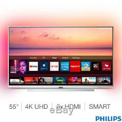 Philips 55 Inch LED Smart Ambilight TV Pixel Precise 4K Ultra HD with Freeview