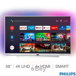 Philips 58 Inch Ambilight 4K Ultra HD LED Android Smart TV with Google Assistant