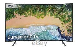 Samsung 55 Inch Curved Smart TV 4K Ultra HD LED Large Television Black HDR Wifi