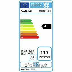 Samsung UE55TU7100 55 Inch 4K Ultra HD HDR Smart WiFi LED TV Carbon Silver