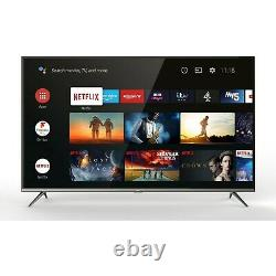TCL 43 Inch 4K Ultra HD HDR Android Smart TV with Silver Bezel