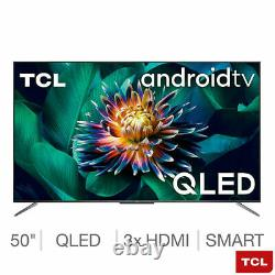 TCL 50C715K 50 Inch QLED 4K Ultra HD Smart Android TV 5 YEAR WARRANTY