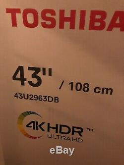 TOSHIBA 43U2963DB 43 Inch TV Smart 4K Ultra HD LED Freeview HD Alexa