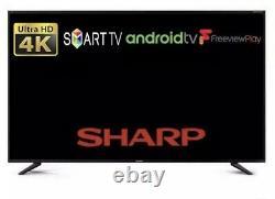 55 Pouces De Sharp Android 4k Ultra Hd Uhd Intelligente 55bl5ka Led Tv Disney + Compatible