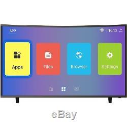 Electriq Téléviseur Led Ultra Hd 4k Ultra Hd Courbé Androïde Android 4k Tnt Hd 3 Hdmi