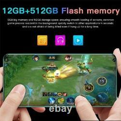 Galaxy S21+ Ultra 7.3 Inch Téléphone Intelligent 4g/5g Déverrouiller 24mp+48mp 12gb+512gb 5600mah