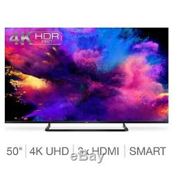 Grand 50 Pouces Smart Tv 4k Ultra Hd Freeview Slim Télévision Internet Wifi Hdmi