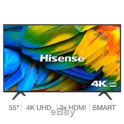 Grand 55 Pouces Smart Tv 4k Ultra Hd Slim Tnt Slim Télévision Wifi Netflix