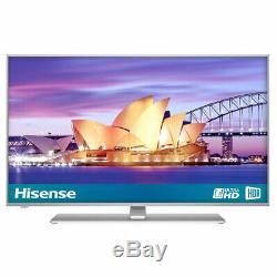 Hisense H55a6550uk Téléviseur 4k Ultra Hd Smart De 55 Pouces Avec Hdr, Lecteur Freeview, Argent