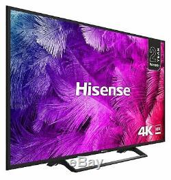 Hisense H55b7300uk Téléviseur À Led Wifi Intelligent Hdr 55 Pouces 4k Ultra Hd Hd, Noir