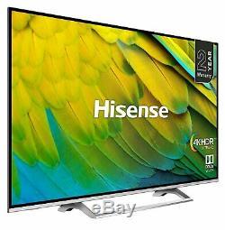 Hisense H55b7500uk 55 Pouces 4k Ultra Hd Hdr Intelligent Wifi Tv Led Argent