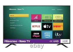 Hisense R50b7120uk 50 Pouces Smart 4k Ultra Hd Hdr Led Roku Tv Freeview Play