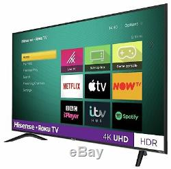 Hisense Roku Tv 55 Pouces R55b7120uk 4k Ultra Hd Hdr Freeview Téléviseur Led Smart Tv