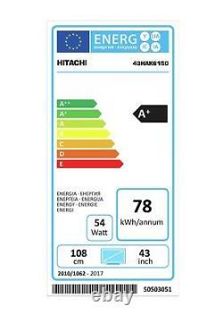 Hitachi 43hak6150u 43 Pouces 4k Ultra Hd Led Smart Tv Android