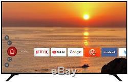 Hitachi Téléviseur À Led Wifi Intelligent Hd Wifi 4 Pouces Ultra 4k Hdk Freeview Play Noir