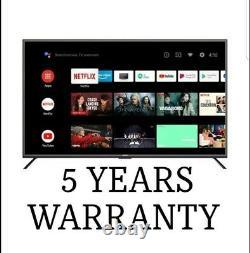 KG 50 Pouces Smart 4k Ultra Hd Hdr Led Tv Avec 10+ Freeview 5 Ans Garantie