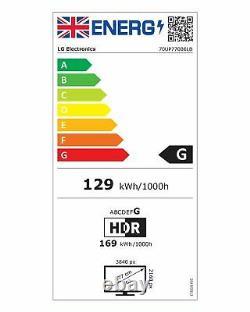 Lg 70up77006lb 70 Pouces 4k Ultra Hd Hdr Freeview Smart Wifi Tv Led Noir