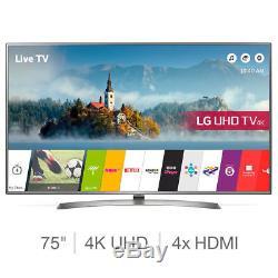 Lg 75uj675v Smart Tv Ultra Hd 4k De 75 Pouces Avec 5 Ans De Garantie Telly Bnib