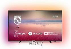 Remis À Neuf Philips 55 Pouces 55pus6704 Intelligent 4k Ultra Hd Hdr Led Ambilight Tv Au Royaume-uni