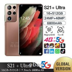 S21 Ultra Global Version Smartphone Téléphones Mobiles 7.3 Pouces Android Smartphone
