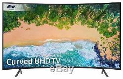 Samsung 55nu7300 Téléviseur Led Wifi Intelligent Hdk 4k Ultra Incurvé De 55 Po, Noir