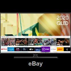 Samsung Qe55q70ta Q70t 55 Pouces Intelligent 4k Ultra Hd Qled Tnt Hd Et Freesat