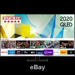 Samsung Qe55q80ta Q80t 55 Pouces Intelligent 4k Ultra Hd Qled Tnt Hd Et Freesat