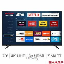 Sharp Lc-70ui9362k 70 Pouces 4k Ultra Hd Téléviseur Led Smart Tv