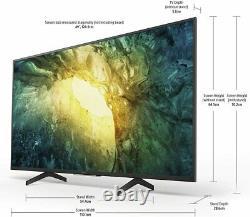 Sony Kd49x7052pbu 49 Pouces 4k Ultra Hd Hdr Smart LCD Tv Noir