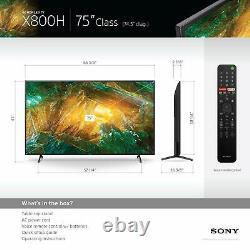 Sony X800h Tv 75 Pouces 4k Ultra Hd Smart Led Tv Avec Hdr Et Alexa Compatibil