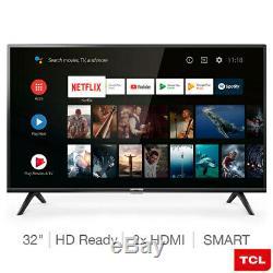 Tcl 32es568 32 Pouces Hd Ready Smart Tv Avec Hdr Tuner Numérique Pure Image Ultra