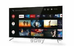 Tcl 55p715k 55 Pouces Ultra Slim 4k Hdr Smart Android Tv Wi-fi Et Garantie De 2 Ans