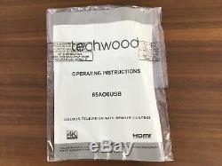 Techwood Téléviseur Ultra Hd 4 Pouces 65 Pouces Usb6k 65 Pouces Noir A +