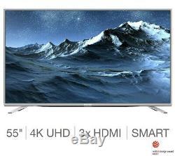 Téléviseur Intelligent Ultra Hd Ultra Compact De 55 Pouces 4k Avec Wifi Intégré En Argent