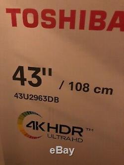 Toshiba 43u2963db 43 Pouces Smart Tv 4k Ultra Hd Led Tnt Hd Alexa