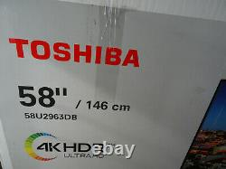 Toshiba 58ul2063db 58 Pouces Tv Smart 4k Ultra Hd Led Freeview Hd 3 Hdmi Dolby
