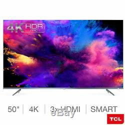 Ultra Slim Smart Tv 3.0 Tcl 50 Pouces 4k Uhd Avec Hdr Pro, Wifi Et Lecture Gratuite