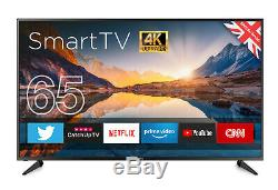 Violoncelle 65 Pouces 4k Ultra Hd Led Tv Smart Wifi 3 Hdmi Usb 3840 X 2160 Made In Uk
